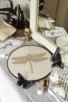 A marriage made in heaven - CrossStitcher magazine + What Delilah Did = metallic dragonfly gorgeousness!