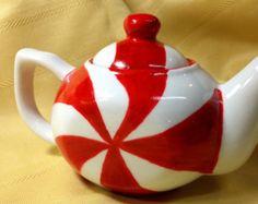 Christmas Candy Teapot
