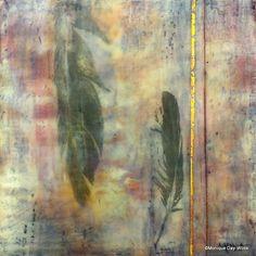 'Two' - Encaustic mixed media by Monique Day-Wilde:  www.moniquedaywilde.co.za