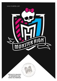 for the front door maybe Monster High banner in black