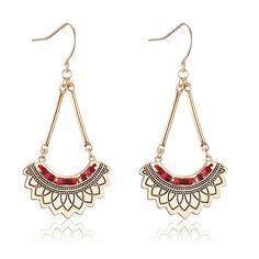 Fashion Crystal Plaqué rivets Double C Boucle D/'Oreille Oreille Anneau avec perle #que