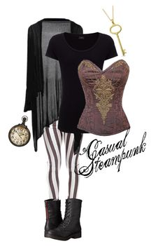"""Steampunk Casual #2"" by kristinamelane ❤ liked on Polyvore featuring Joseph, Madden Girl and Bling Jewelry"