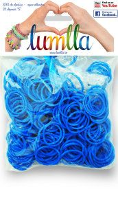 Elastice opace albastre Kit
