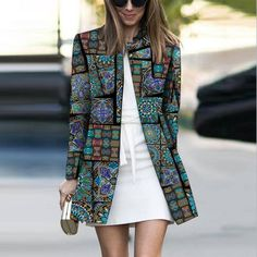 Product Fashion Printed Colour Long Sleeve coat Brand Name Chicokay SKU Gender Women Style Elegant /Fashion/Modern Type coat Material Polyester Fiber Decoration Pure Colour Please Note: All dimensions are measured manually with a deviation of 1 to Fashion Mode, Look Fashion, Winter Fashion, Womens Fashion, Cheap Fashion, Affordable Fashion, Ärmelloser Mantel, Mode Mantel, Look Blazer