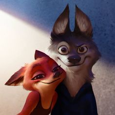 Fox, Wolf, Boy and Alien pet Zootopia Characters, Zootopia Art, Cute Cartoon Characters, Zootopia Comic, Green Lantern Movie, Fox Character, Wings Of Fire Dragons, Ever After Dolls, Cut Animals