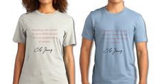 Carl Jung Quote T-Shirt! Click Image for details. All sales help fund and support All-About-Psychology.Com a website providing free psychology information, resources and full-text articles since 2008. Please repin #psychology #CarlJung