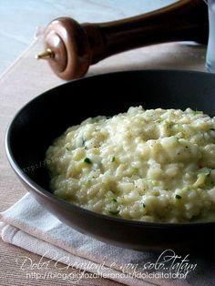 Risotto cremoso zucchine e stracchino | ricetta gustosa