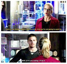 Arrow - Felicity and Oliver #3.9 #Season3 #Olicity <3
