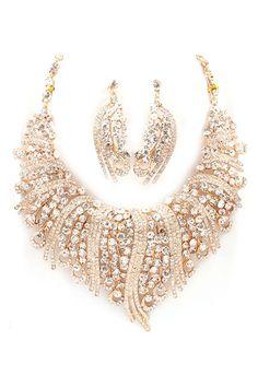 Emmaly Statement Necklace Set in Crystal on Emma Stine Limited