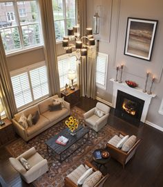 GREAT ROOM: Love the molding to break up the tall wall.  Two Story Design, Pictures, Remodel, Decor and Ideas - page 2