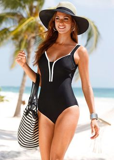 9947b378f5 US $6.34 9% OFF|Plus Size Swimwear 2016 New Summer Beachwear Swim Suit  Print Stripe Vintage One Piece Swimsuit Women Bathing Suits Black 4XL-in Body  Suits ...