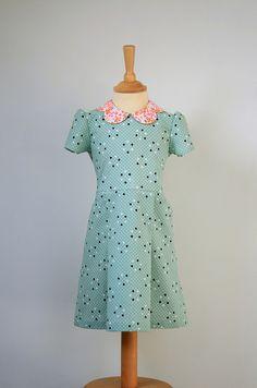 blushjurk (homemade mini couture - aangepast) by - - spiegel aan de wand -