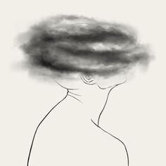 Life is not always easy. Sometimes it's crushing, dark and sad. Take a look at 137 artworks by various artists and see how they feel or imagine depression. Sad Drawings, Dark Art Drawings, Art Drawings Sketches, Drawings About Depression, Depressing Paintings, Drawing Tips, Canvas Art, Pencil Drawings, Drawing Faces