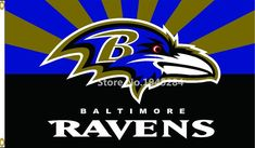NFL Baltimore Ravens Flag Size 3x5ft 90X150cm Large Polyester Flying Flag Banner, free shipping
