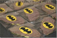 Batman party food and favors