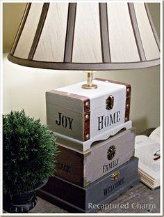Artesanía Caja de lámpara