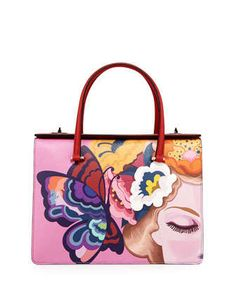 Saffiano Print Butterfly Satchel Bag by Prada at Neiman Marcus.
