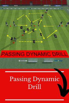 Soccer Passing Drills, Football Training Drills, Football Tactics, Soccer Workouts, Soccer Coaching, Field Hockey, Soccer, Football Soccer, Soccer Training Drills