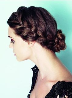 Possible grad braided up do. With strands of curls hanging out?