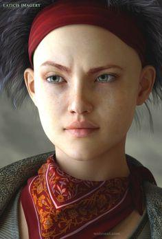 3d girl model character design
