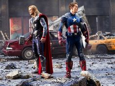 the avengers, thor, chris hemsworth, captain america, chris evans #movie
