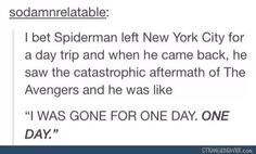 I could just imagine Andrew Garfield being like one day guys really??