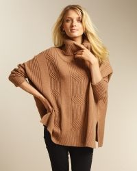 Cable Poncho Sweater