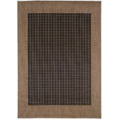 Couristan Recife Checkered Field Black Cocoa Indoor/Outdoor Area Rug & Reviews | Wayfair