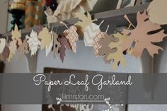 Paper Leaf Garland DIY:  This would be quick and easy with the Stampin' Up! Autumn Accents Die.  http://www.stampinup.com/ECWeb/ProductDetails.aspx?productID=127812&dbwsdemoid=99186