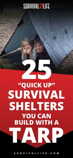 """Tarp Shelter   25 """"Quick Up"""" Survival Shelters You Can Build With ATarp"""