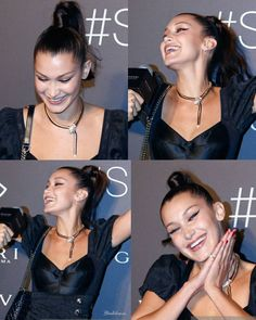 """17 curtidas, 1 comentários - Bella Hadid Updates (@bhadidnews) no Instagram: """"Just the fact to seeing Bella smile makes me smile ❤ @bellahadid #BellaHadid """""""