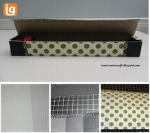 Washi Tape Holder - decorate an aluminum foil box!