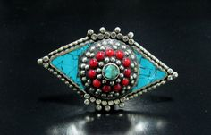 FREE SHIPPING Turquoise Coral Healing Stone Nepali by CraftEast, $42.00