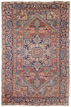 Antique Heriz & Serapi Rugs Gallery: Antique Heriz Rug, Hand-knotted in Persia; size: 6 feet 3 inch(es) x 9 feet 4 inch(es)
