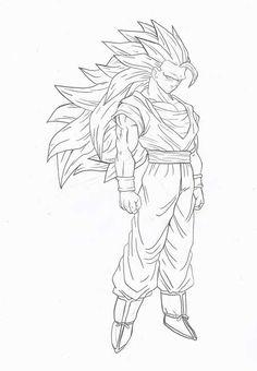 50 Desenhos do Goku para Colorir (Anime Dragon Ball Z)