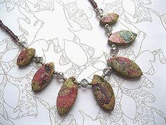 Polymer Clay Leaf Necklace £24.00