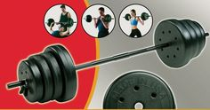 Weight Lifting Set Barbell 100-Pound Bodybuilding Plates Traditional Gym Sport #TheStep