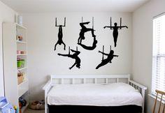Wall Vinyl Sticker Decals Mural Room Design Pattern Art Bedroom Gymnast Sport Girl Boy Nursery People bo2451 by RoomDecalsAndDesigns on Etsy