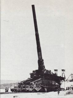 The largest railroad gun ever built was this 'DORA' 800mm cannon