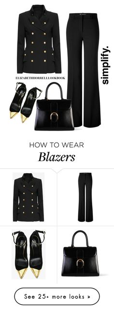 """LIZ"" by elizabethhorrell on Polyvore featuring Versace, Exclusive for Intermix, Delvaux and Balmain"