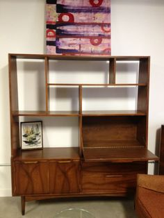MCM Room Divider Storage Unit Bar by BarefootDwelling on Etsy, $550.00