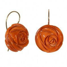 Most gold earrings aren't made of pure gold given that it can be rather soft and not very useful for daily wear. #goldearring Coral Jewelry, Rose Gold Jewelry, Gold Drop Earrings, Rose Earrings, Rose Gold Earrings, Jewellery Shop Near Me, Jewelry Shop, Coral And Gold, Red Coral