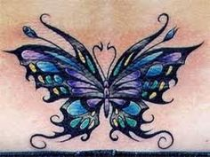 purple and blue butterfly