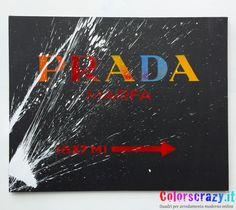 Quadro Prada Marfa Multicolore con schizzo di vernice bianco - Acquista online su www.colorscrazy.it                                                                                                                                                                                 Plus