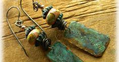 Boho Southwestern Earrings Rustic Copper Jewelry by ChrysalisToo $36.00 - handmade - jewelry - jewellery - artisan - womens fashion - style