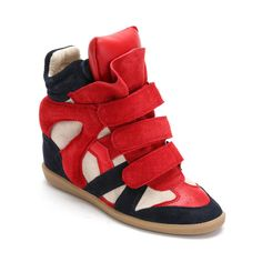 Red Sneakers | ... / Upere Wedge Sneakers / Upere Wedge Sneakers Suede Red Navy Beige