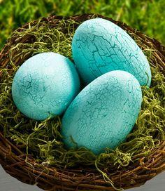 **Cathie and Steve {Make. Bake. Celebrate!}: DIY Crackle Finish Easter Eggs