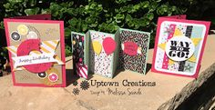 Here are the cards we made at the May Girls Night Out Stampin' Up card making event.