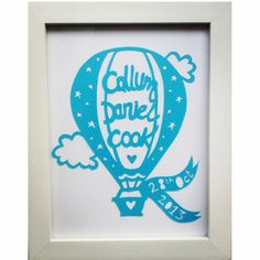 Personalised papercut christening gift x