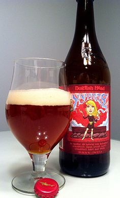 Kvasir is a Scottish Gruit / Ancient Herbed Ale style beer brewed by Dogfish Head Craft Brewery in Milton, DE
